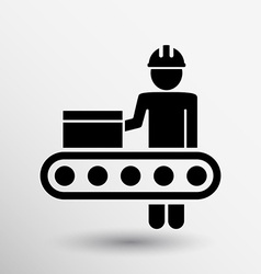 Engineering workshop industrial operation icon vector