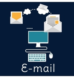 Sending and receiving e-mail concept vector