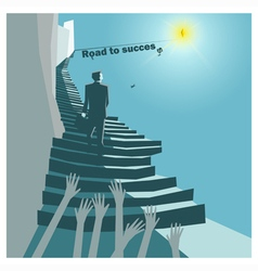 Business idea series road to success concept vector