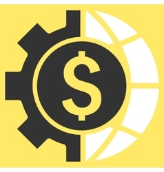 World industry finances flat icon vector