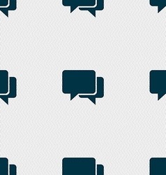 Speech bubbles icon sign seamless pattern with vector