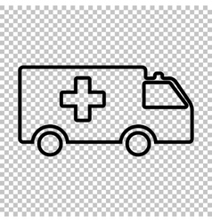 Ambulance sign line icon vector