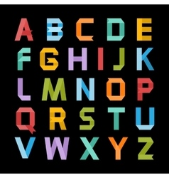 Paper color alphabet vector