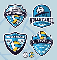 Set of volleyball logo template design vector image