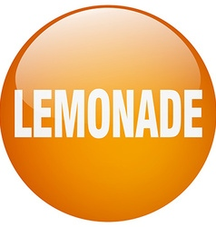 Lemonade orange round gel isolated push button vector