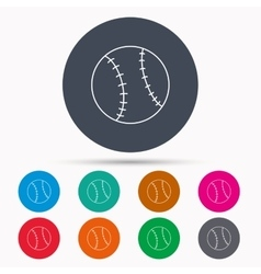 Baseball icon sport ball sign vector