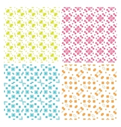 Collection of four simple geometric vector