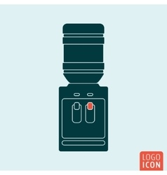 Water cooler icon vector
