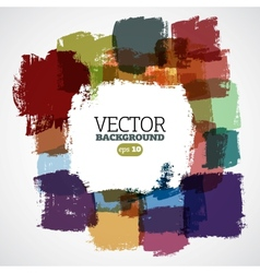 Abstract hand-painted background vector image vector image