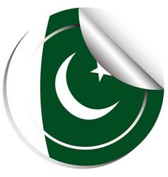 Badge design for flag of pakistan vector