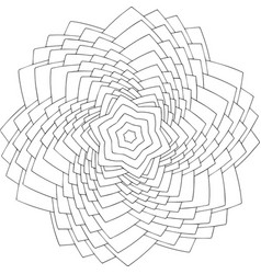 black and white online art geometric round vector image