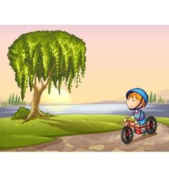 boy in park vector image vector image