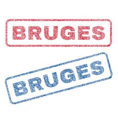 Bruges textile stamps vector