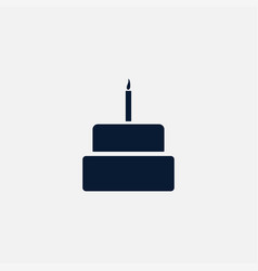 Cake icon simple vector