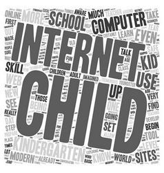Computers for kiddos 1 text background wordcloud vector