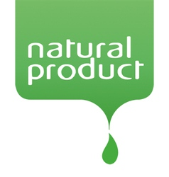 conceptual drop of the natural product vector image