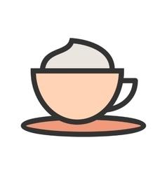 Creamy coffee vector
