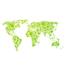 dots style world map abstract world map of green vector image vector image
