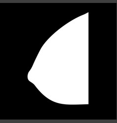 female breast white color icon vector image