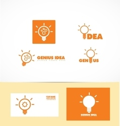 Genius idea light bulb logo vector