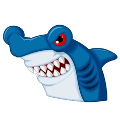 Hammerhead shark mascot cartoon character vector