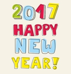 Happy New Year 2017 wishes vector image
