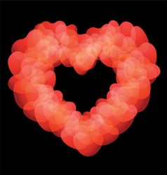 Heart shape on black background vector