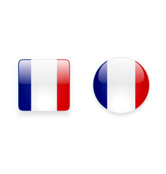 Icons with french flag vector