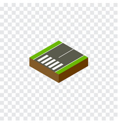 Isolated footer isometric footpassenger vector