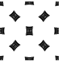 Japanese traditional scrol pattern seamless black vector