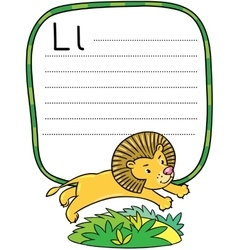 Little funny lion for ABC Alphabet L vector image vector image