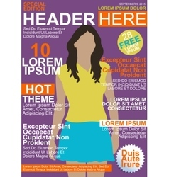 Magazine template cover vector