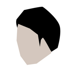man head faceless with short hairstyle in white vector image