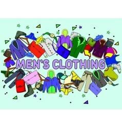 Men clothing vector image vector image