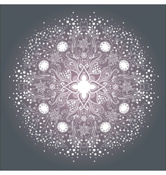 Ornamental round lace patterndelicate circle vector
