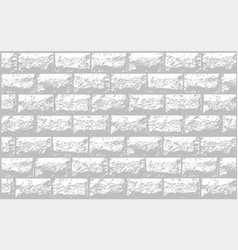 Realistic texture of white brick wall vector