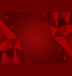 red color polygon abstract background modern vector image