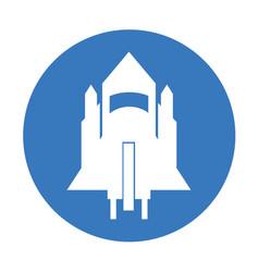 Rocket flying idolated icon vector