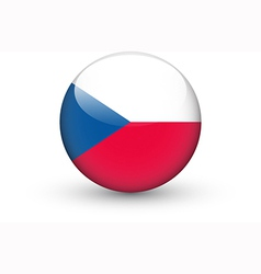 Round icon with flag of the Czech Republic vector image