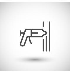 Sealant line icon vector image vector image