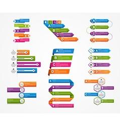 Set colorful infographics design elements vector