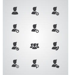 Set of user icons vector image
