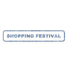 Shopping festival textile stamp vector