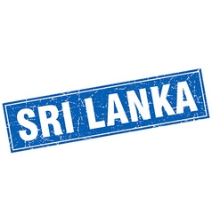 Sri lanka blue square grunge vintage isolated vector