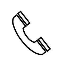 Telephone handset phone vector