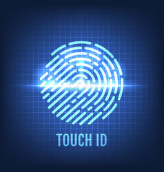 Touch id recognition technology concept vector