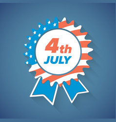 Usa independence day award icon or banner vector