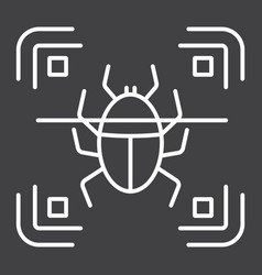 Virus scan line icon security and antivurus vector