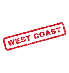 West coast rubber stamp vector