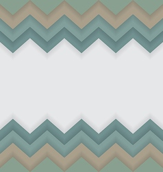 Zigzag pattern with white space for text or logo vector